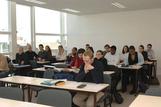 Auditeurs de l'ICSV en cours avec M. Mevellec.
